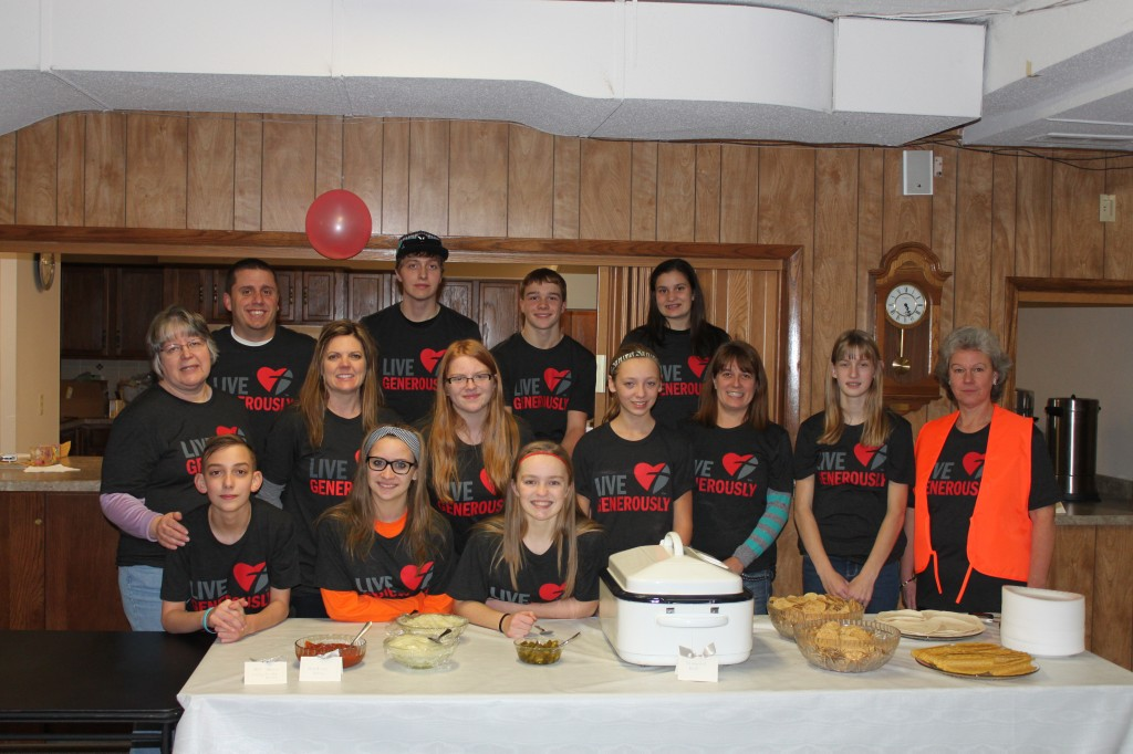 Picture of Youth group at Taco Dinner Fundraiser