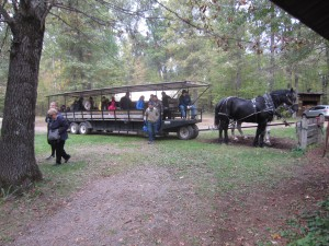 Wagon ride at Cabin Ridge 2015